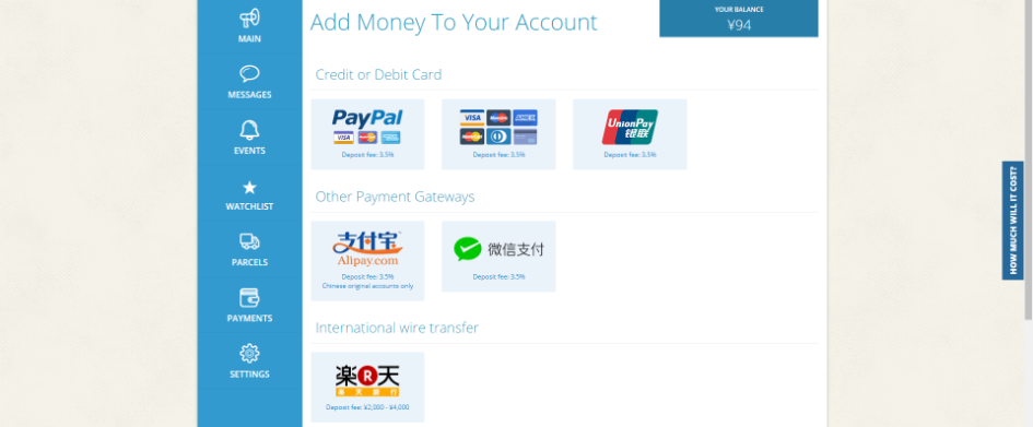 Adding funds to your ZenMarket account