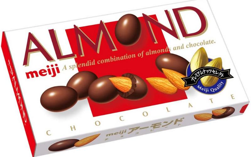 Meiji Chocolate Almonds