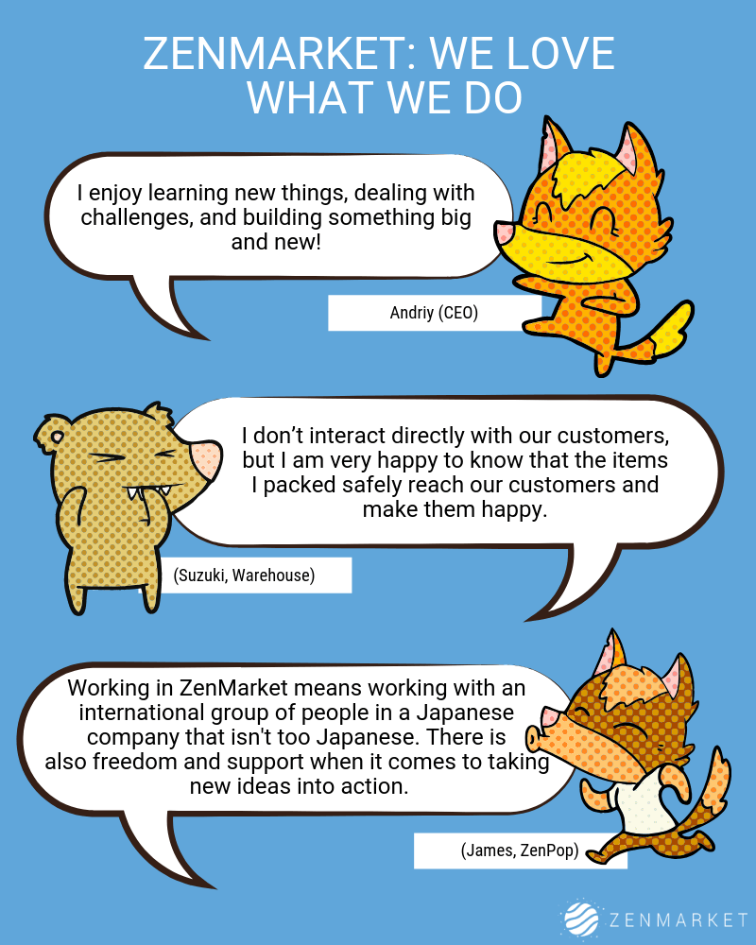 Why ZenMarket Staff Enjoy The Work We Do!