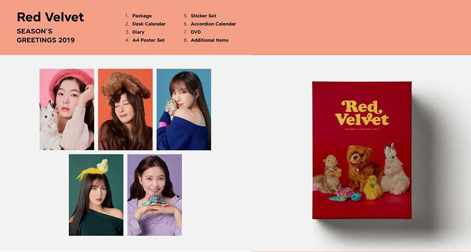 【First pre-reserved price】 SM 2019 season greeting 【Group selectable】 【SEASON'S GREETINGS】 【End of December】 SM Entertainment KPOP 2019 seasons greeting Sea gull