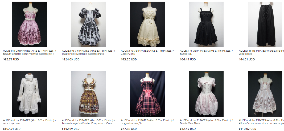 Alice and the pirate Japanese Lolita brand on ZenMarketPlace 2018