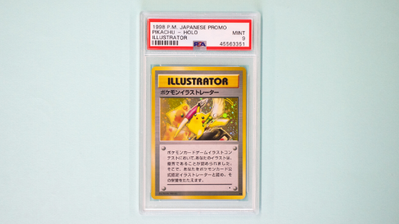 Pikachu illustrator Japanese promo Pokemon card mint condition