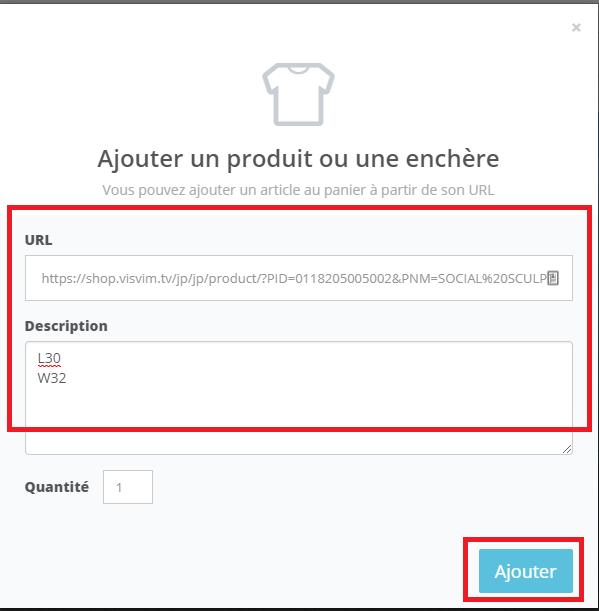 ZenMarket - Ajouter produit