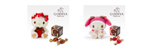 Sanrio Godiva Hello Kitty My Melody