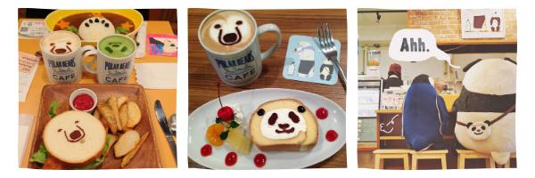 Меню в кафе Shirokuma в Токио