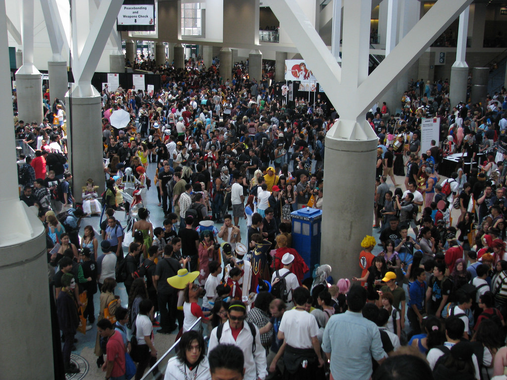 crowds at Anime Expo in California, USA
