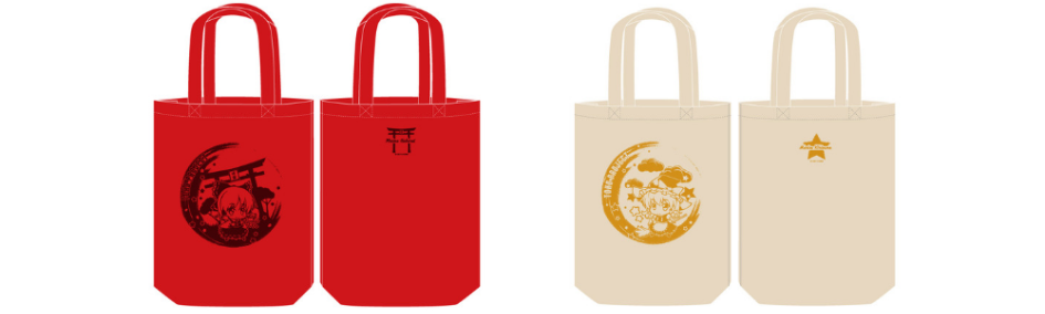 Red and white touhou project tote bags on ZenPlus