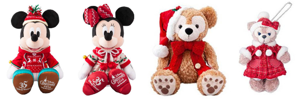 Official Tokyo Disney Land  35th Anniversary Christmas Plushies and merch