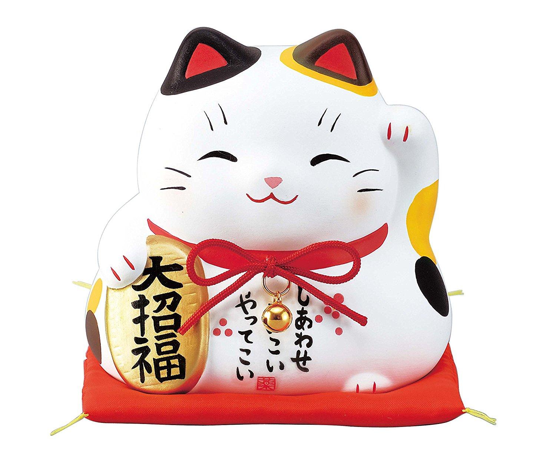 Nishiki-aya daifuku beckoning cat piggy bank - Proxy Service - ZenMarket