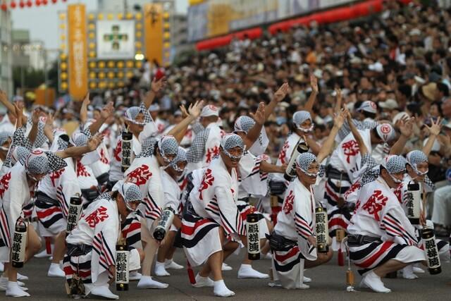 Dancers performing the Awa Odori