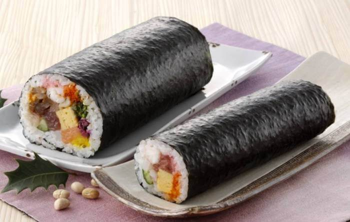 Eho maki is eaten on Setsubun