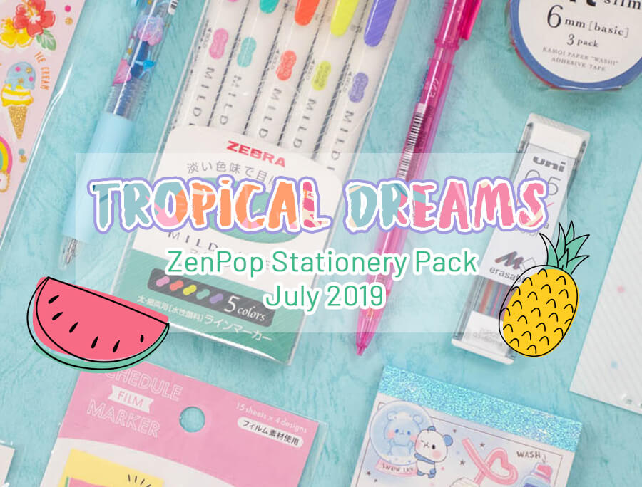 ZenPop's July Tropical Dreams Stationery Pack