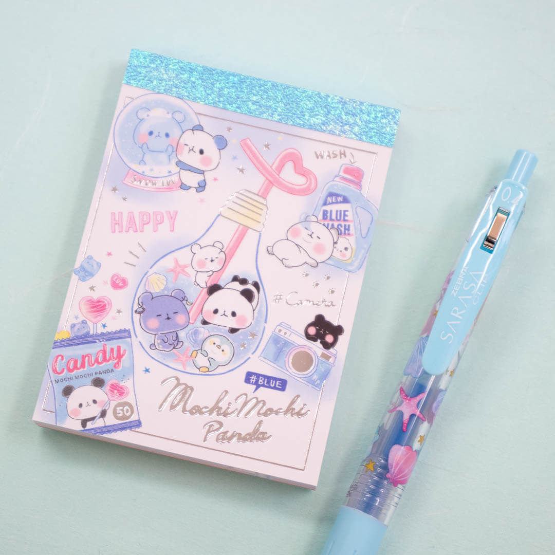 Mochi mochi panda notepad in July's Tropical Dreams Stationery Pack