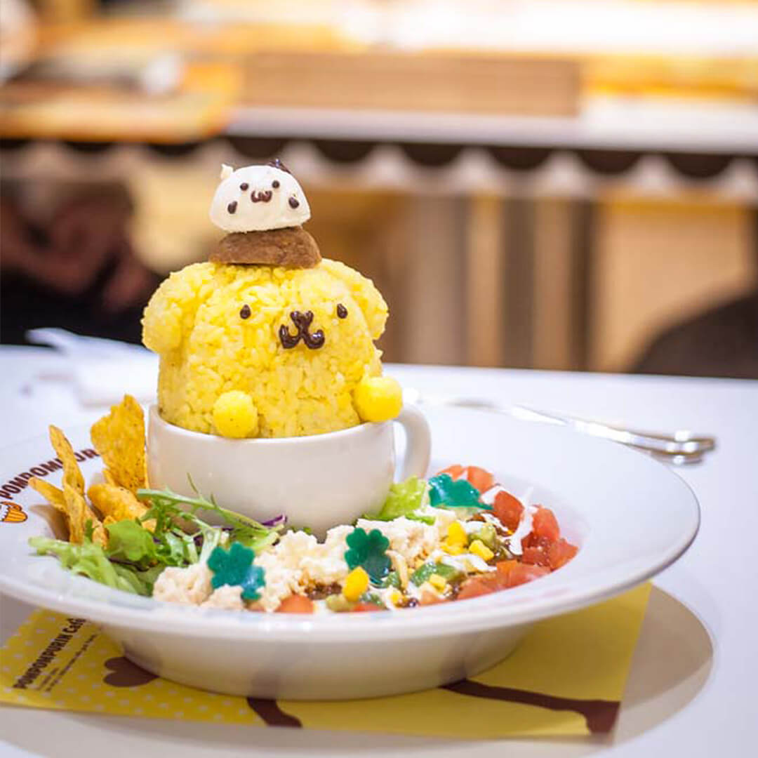 Kawaii lunch from the Pompompurin cafe in Japan