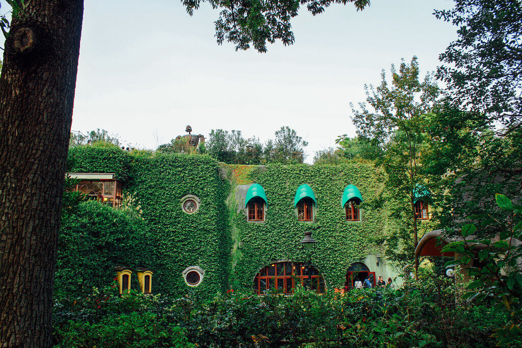 The exterior of the Studio Ghibli museum in Tokyo
