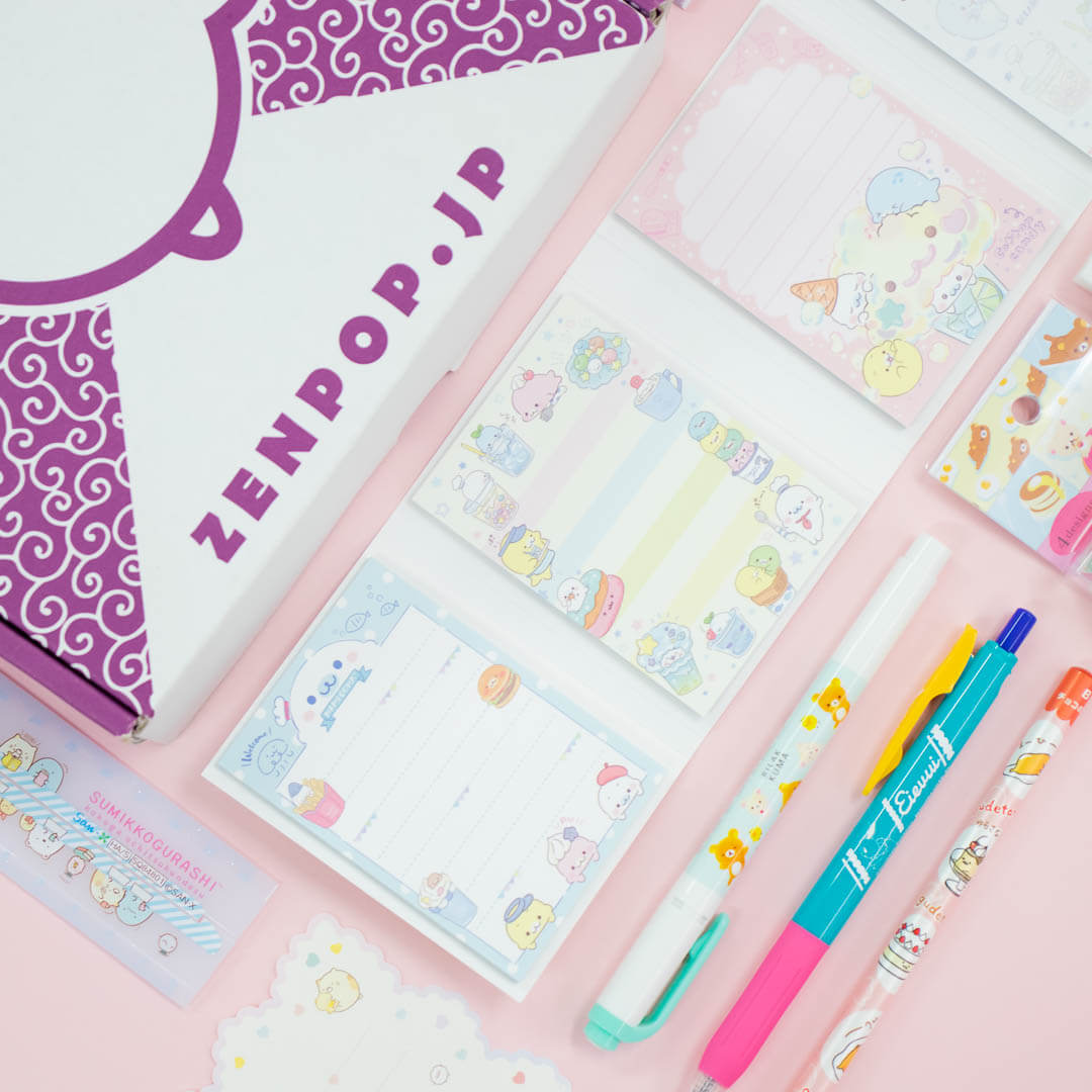 ZenPop's Kawaii Characters Stationery Pack
