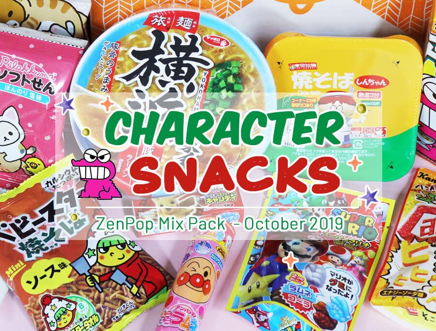 ZenPop's Ramen + Sweets Mix Characters Snacks Pack