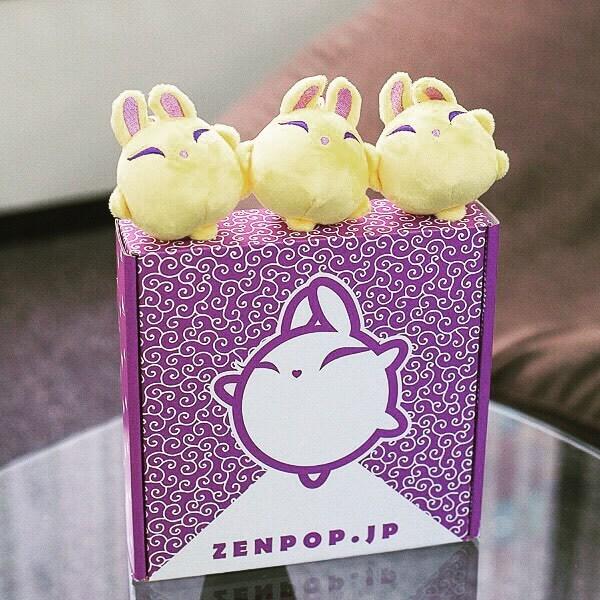 ZenPop's mascot, Luna, plush toys