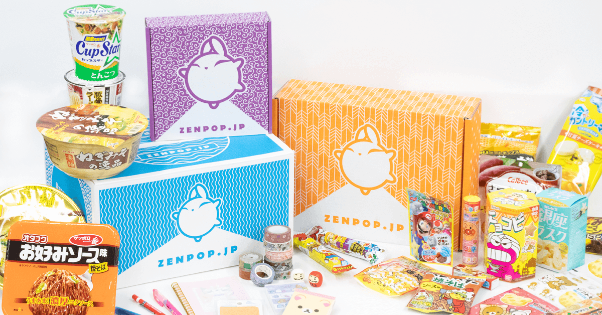 ZenPop's monthly subscription boxes from Japan