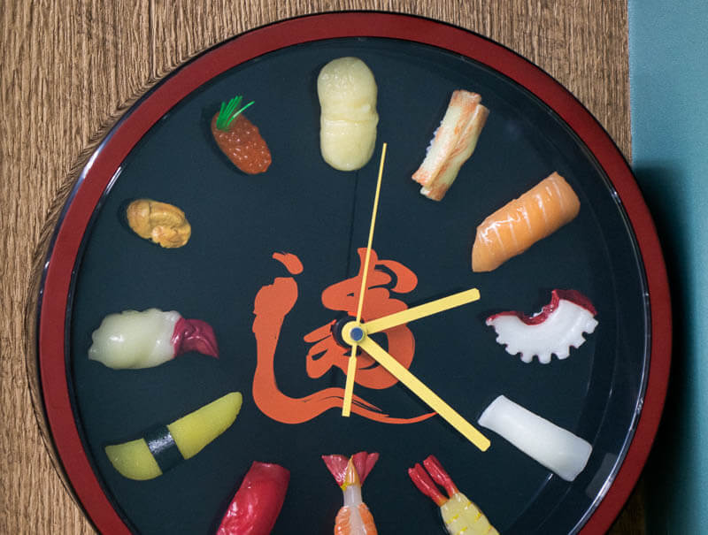 One-of-a-kind Japanese Sushi Clock