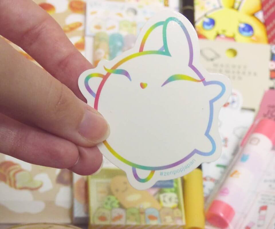 Kawaii Luna Sticker in all ZenPop Subscription Boxes