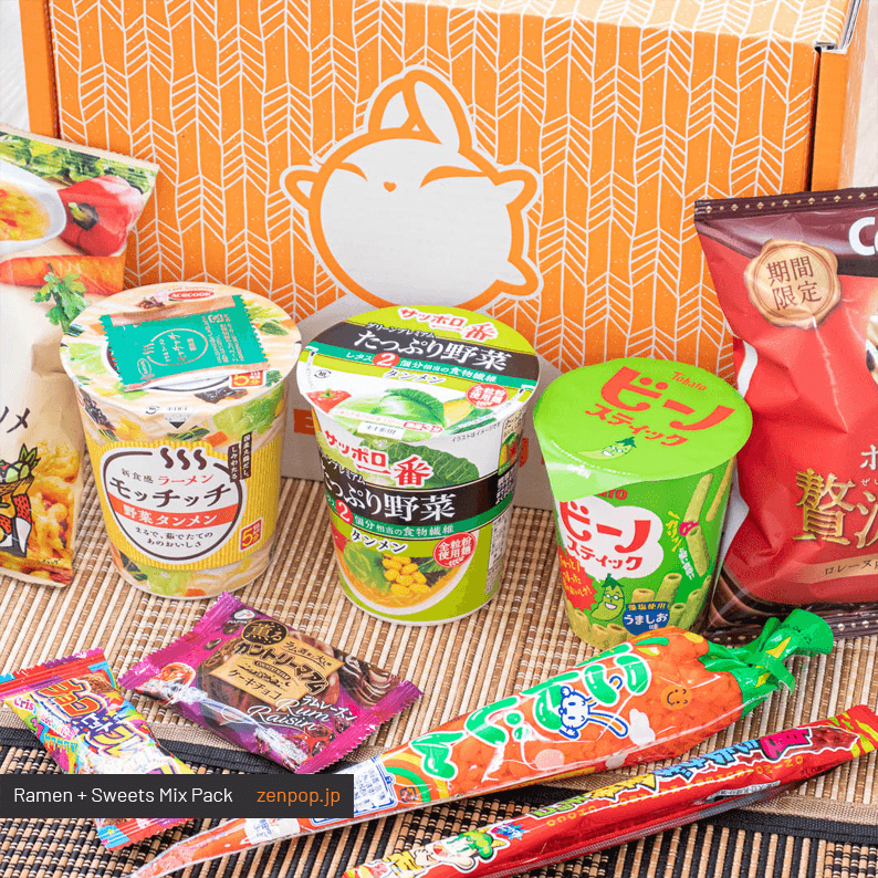 ZenPop's Japanese Ramen + Sweets Mix