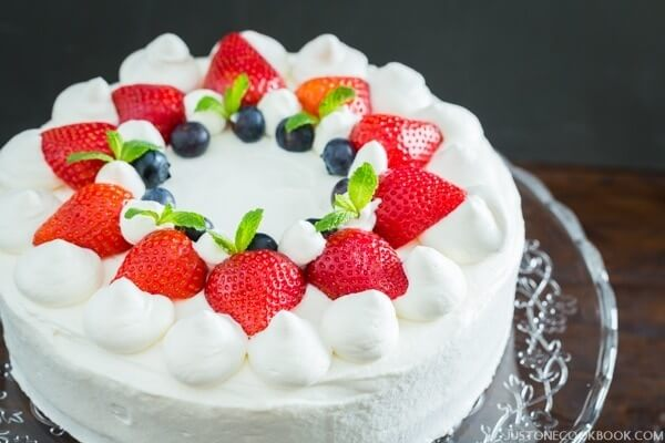 Just One Cookbook's Strawberry Shortcake Recipe