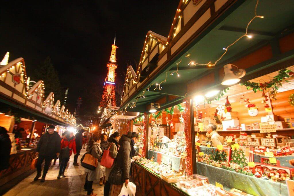 Christmas Market in Sapporo, Hokkaido