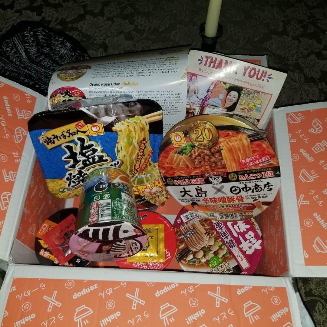 Instagram: ZenPop's Trip to Japan Ramen Subscription Box