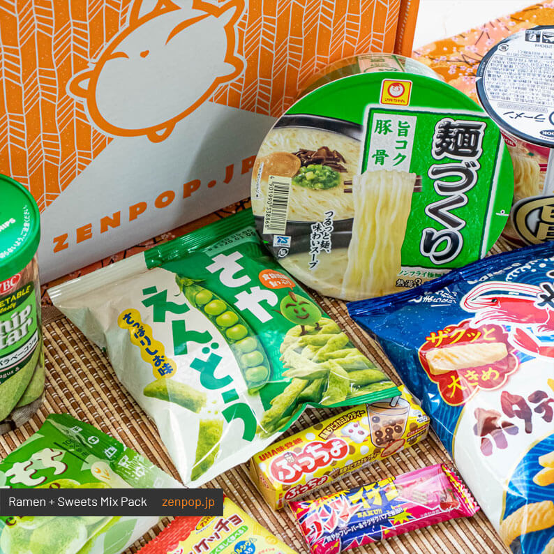 ZenPop's Japanese Ramen and Sweets Subscription Box