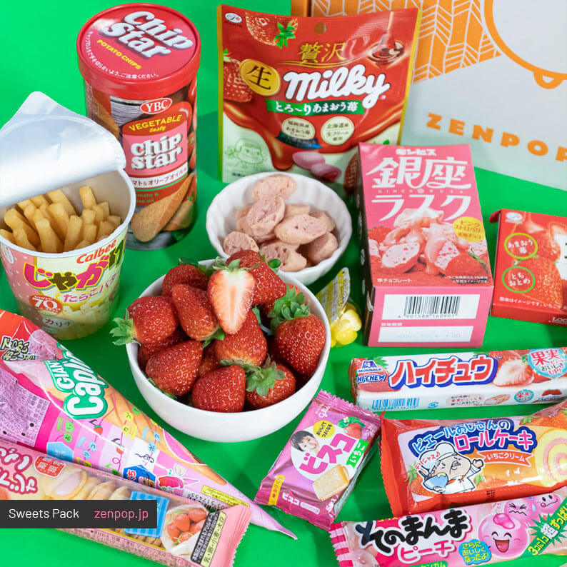 ZenPop's Japanese Sweets Subscription Box: Strawberry Lover