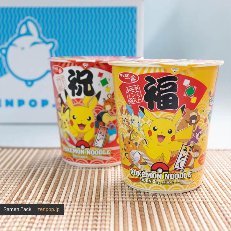 Limited-edition Pokemon Shoyu Udon and Ramen