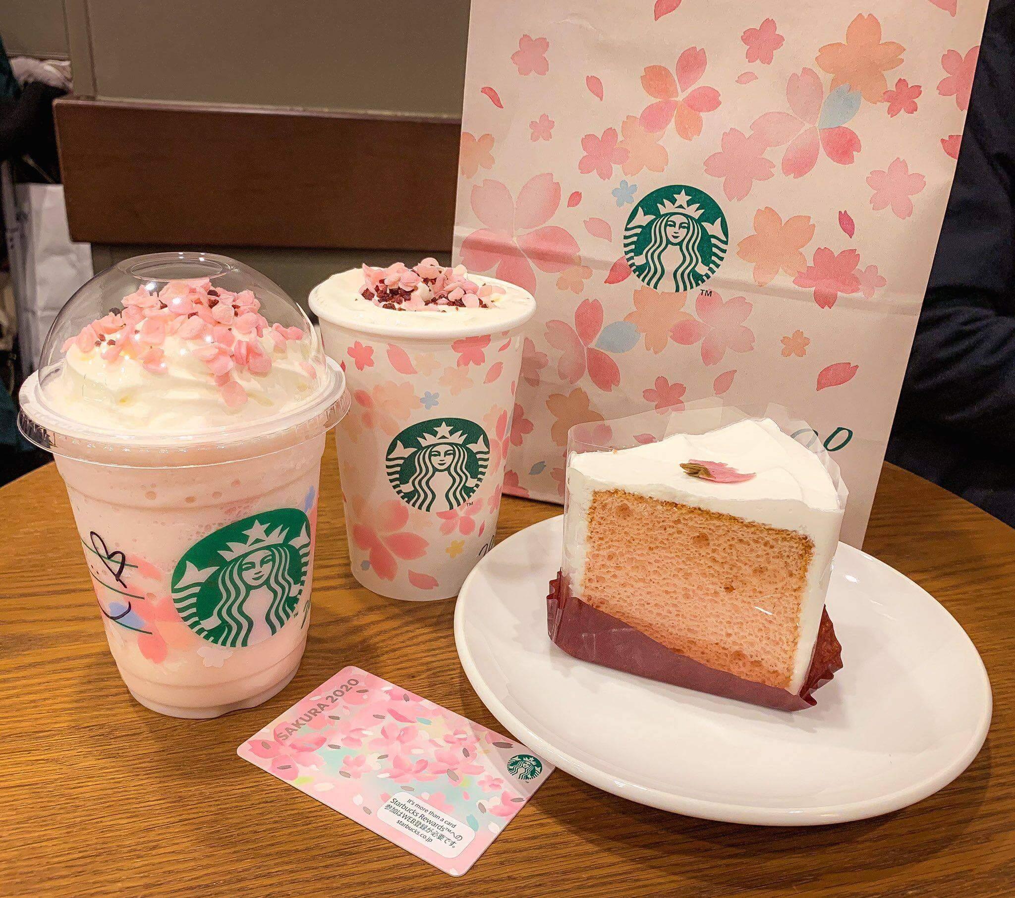 Starbucks Japan's Sakura Beverages and Cake