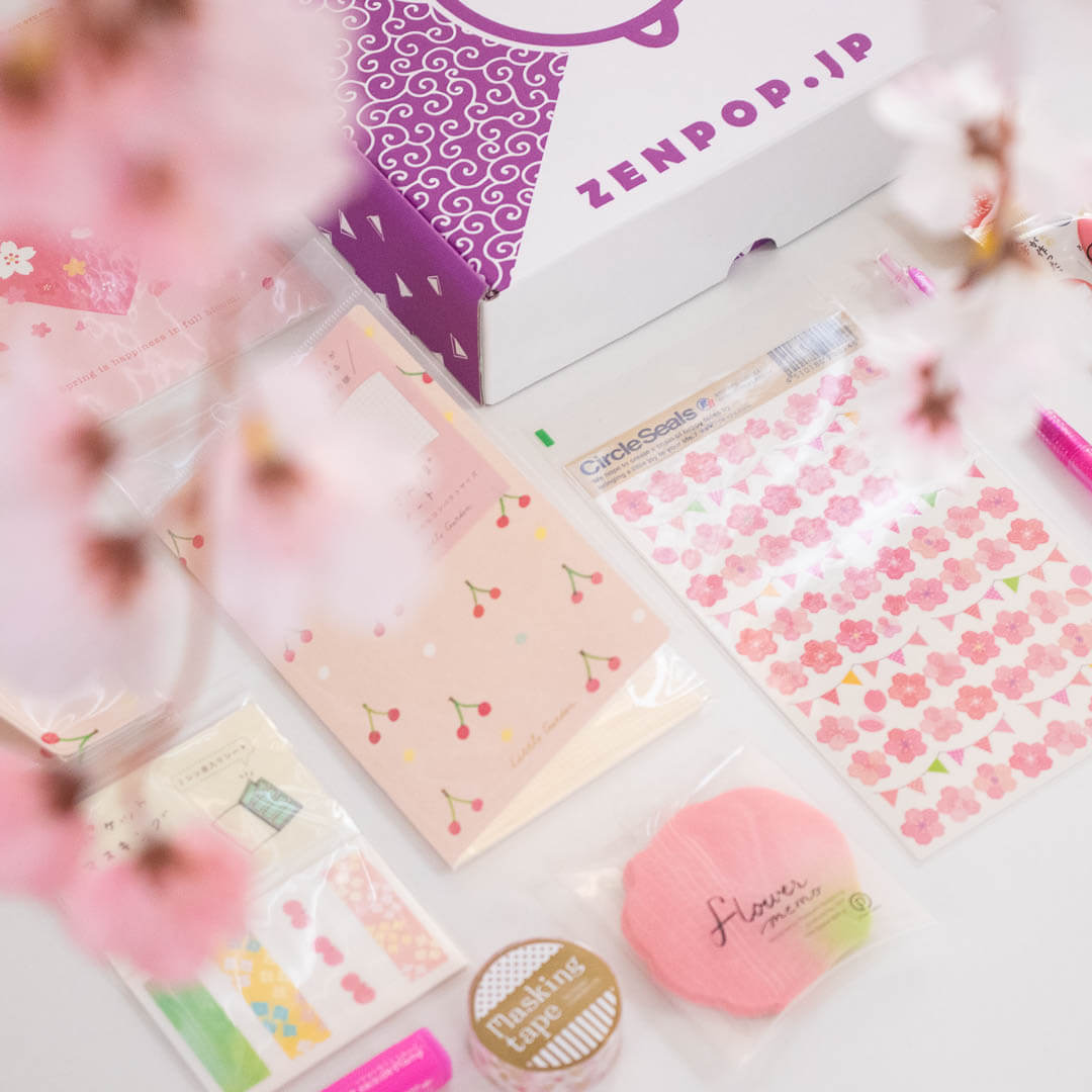 ZenPop's April Sakura Japanese Stationery Pack