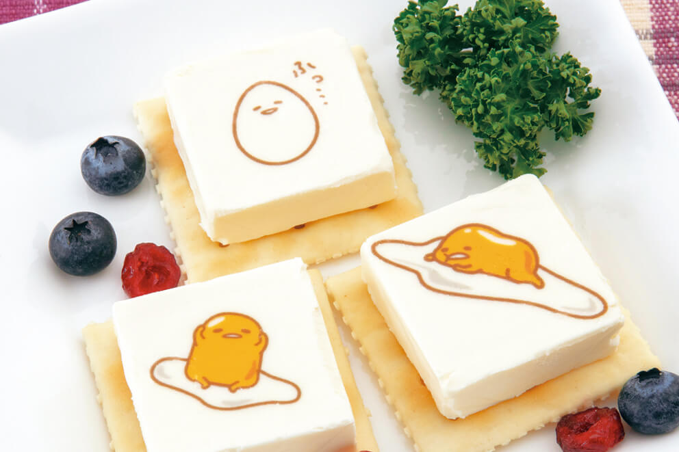 Gudetama edible food art stickers