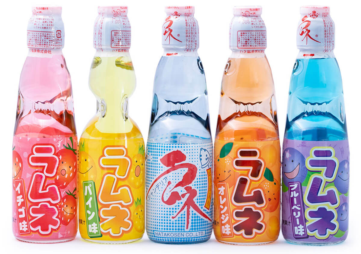 Different ramune flavors