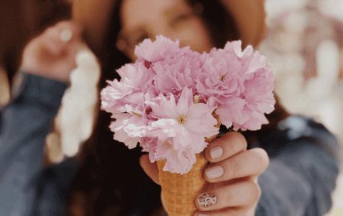 Delicious sakura-themed snacks