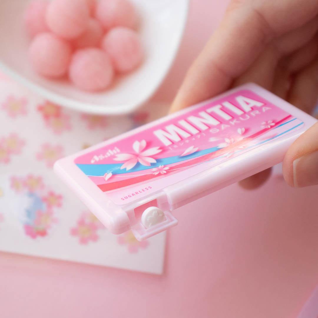 Sweet sakura Mintia and cherry candies