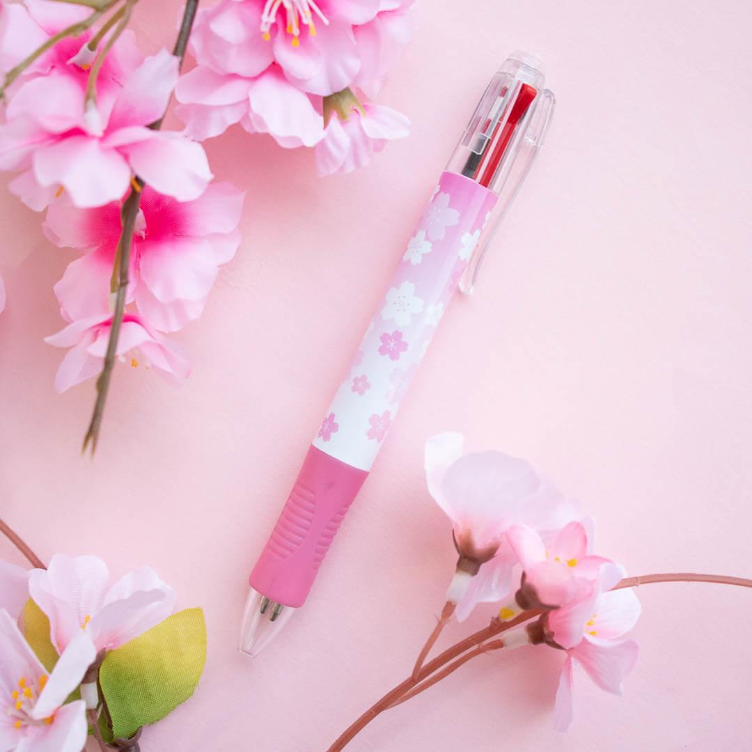 Sakura-themed ballpoint pen