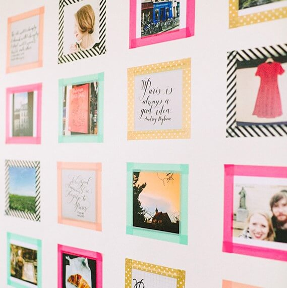 Washi tape frames / 100 Layer Cake