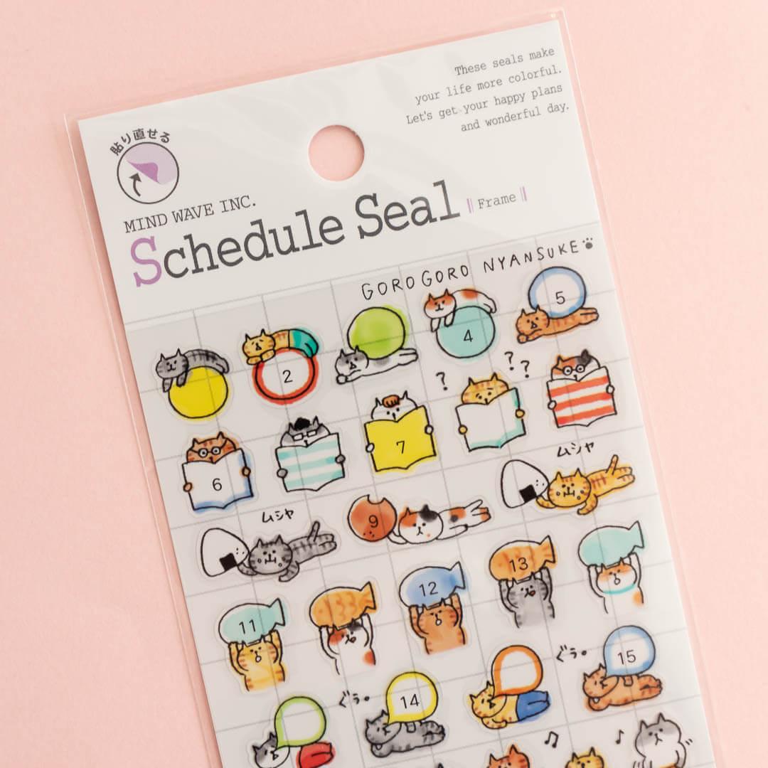 MindWave Reusable Cat Schedule Stickers