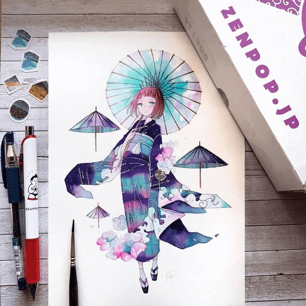 Beautiful washi tape artwork