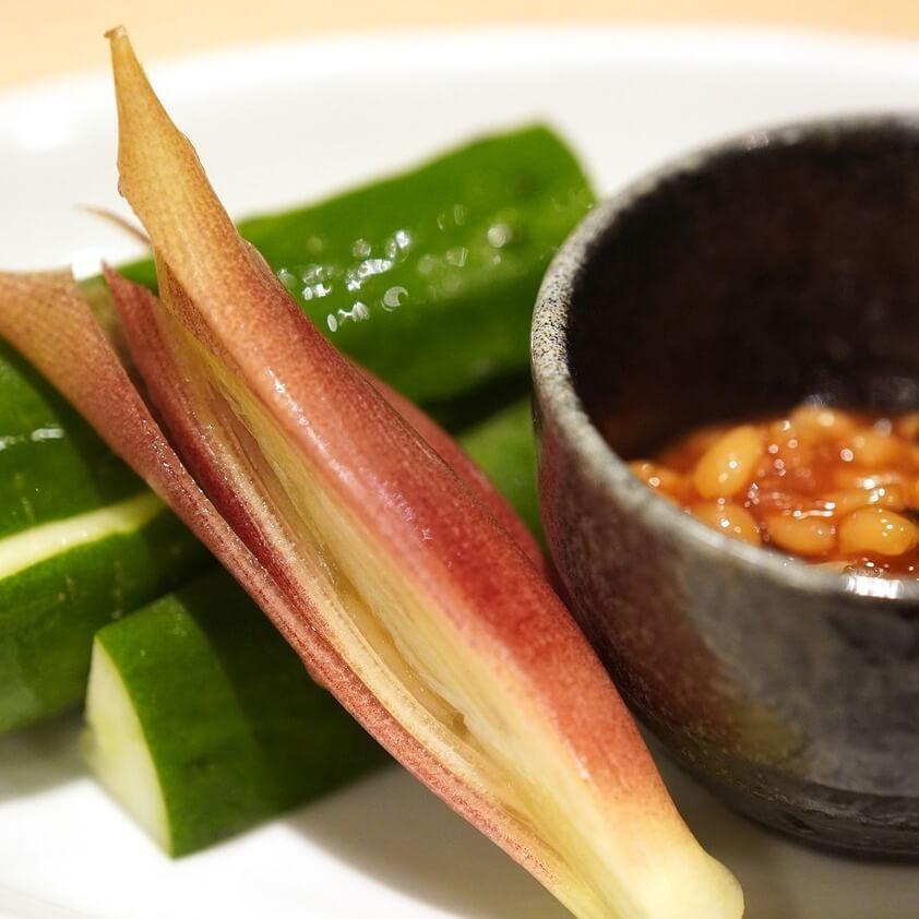 Cucumber and moromi miso at an izakaya