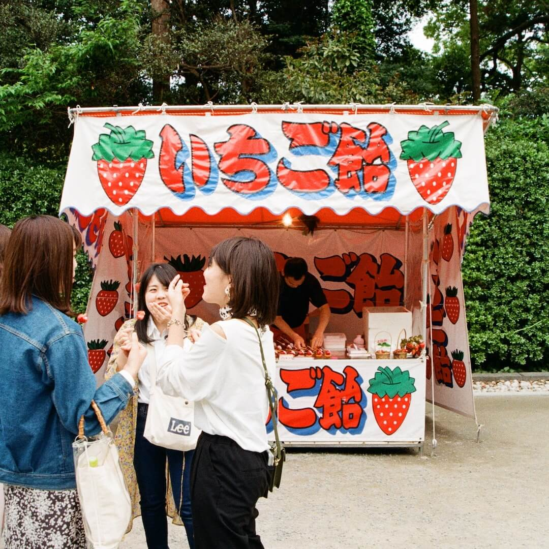 Ichigo Ame at a Japanese festival