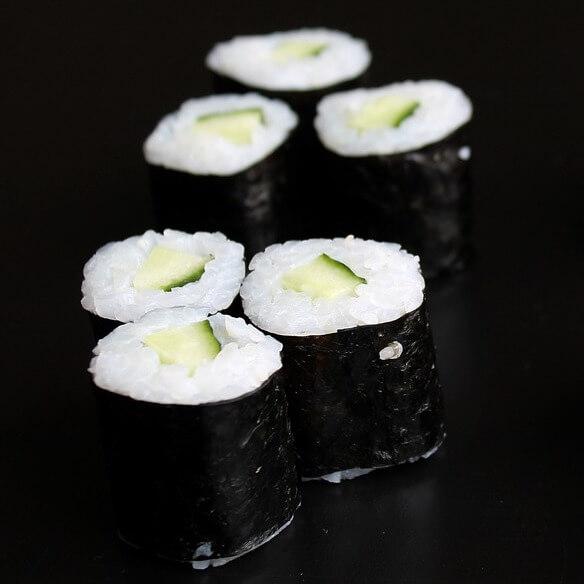 Kappa-Maki or Cucumber Sushi