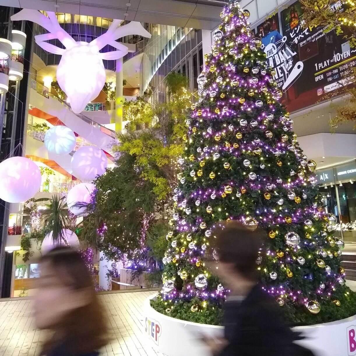 Christmas decorations in America-mura, Osaka