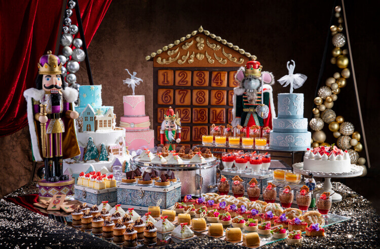 A Christmas dessert buffet inspired by the Nutcracker