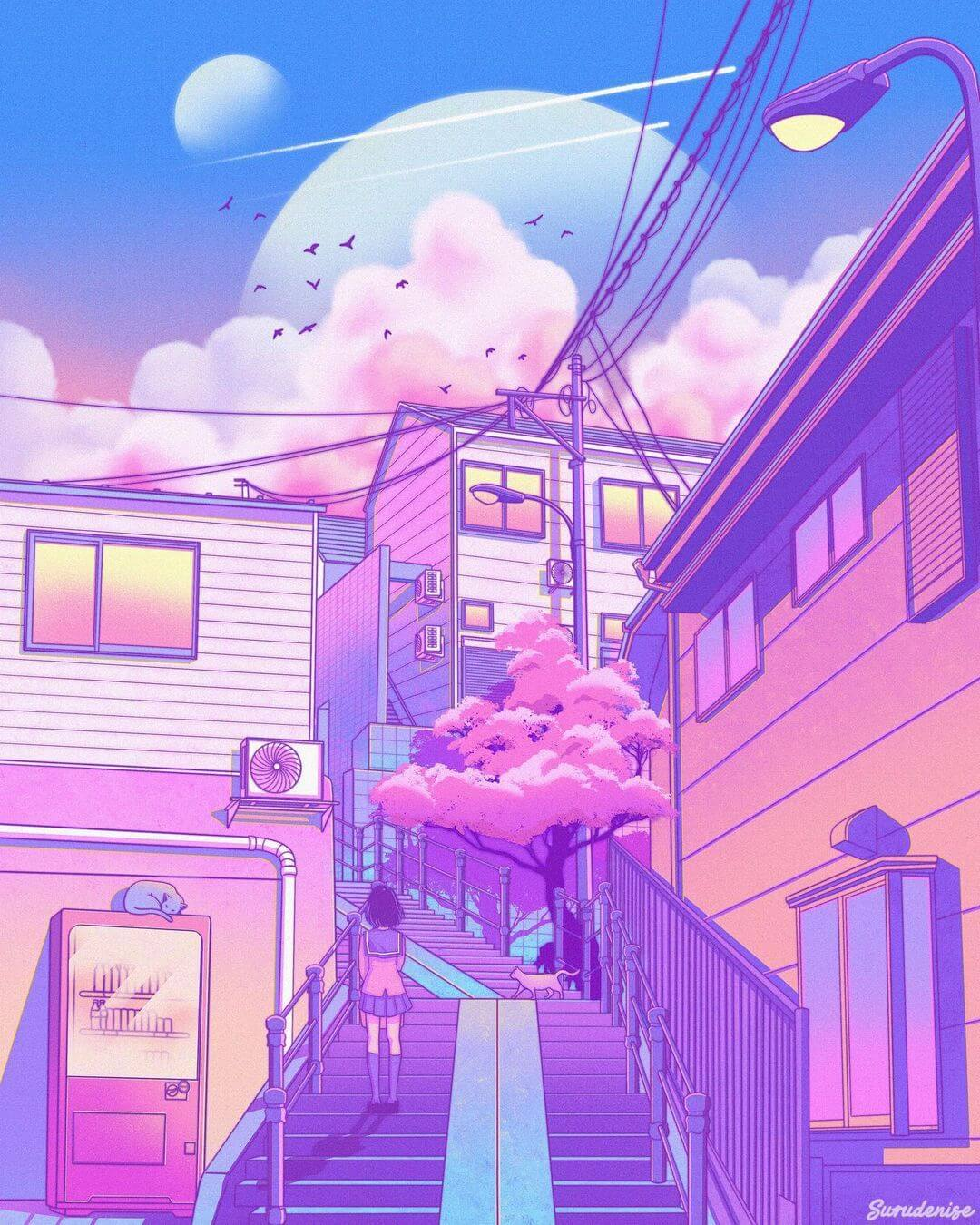 Neon Pastel-style artwork
