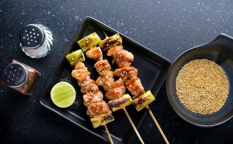Yakitori and seasoning