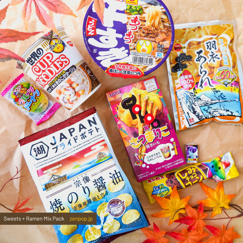ZenPop's Ramen and Sweets Mix Pack: Japanese Fall Delights